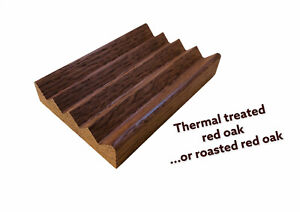 1 roasted red oak soap dishes - proudly handcrafted in the USA +1 poplar dish