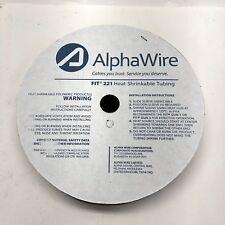 "AlphaWire FIT2213/8 Heat Shrink Tubing 3/8"" ID SHRNK TUBN 50ft SPOOL CLEAR"