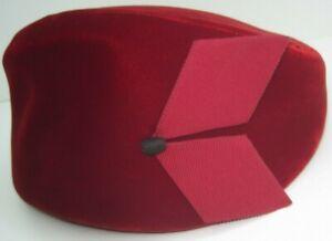 Bette Boutique Lovely Unique Vintage Red Velvet Hat