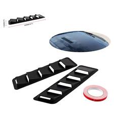 2PCS ABS Plastic Universal Bonnet Hood Vent Louver Cooling Panel Trim Set Black