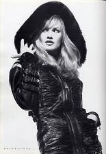 RARE Versace Bondage Collection Black Leather Fox Fur Hooded  Medusa Jacket