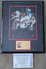 "Nolan Ryan ""King of K"" Autographed Signed Photograph Montage 23K Gold Stamp COA"