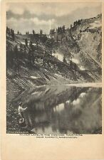c1906 Lithograph Postcard; Silver Lake Cascade Mountains by Everett WA Snohomish