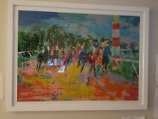 """LEROY NEIMAN """"FLORIDA RACING"""" SOLD OUT EDITION - #49/300 - FRAMED WITH GLASS"""