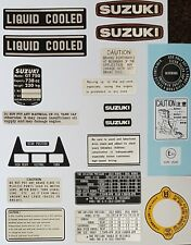 SUZUKI GT750 WATER BUFFALO  WARNING LABEL DECAL KIT