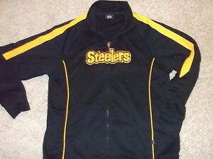 PITTSBURGH STEELERS official NFL apparel zip-up track jacket Adult Large