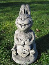 Love Rabbit stone garden ornament   <<Visit my shop>>
