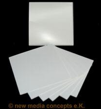 Kartonstecktaschen glänzend (215gr) für CD/DVD weiß, unbedruckt 25 Stück