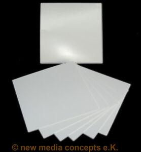 Kartonstecktaschen glänzend (215gr) für CD/DVD weiß, unbedruckt 500 Stück