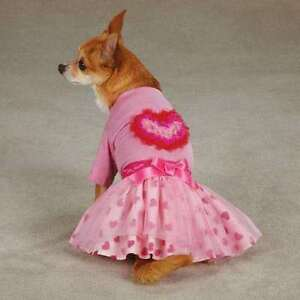 XSM Dog Shirt and Skirt HEART Valentine's Day Chihuahua Poodle Dog Dress Yorkie