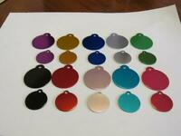 Custom Engraved Dog/Cat Pet ID Tag-Round Shape-Large or Small Size-10 Colors