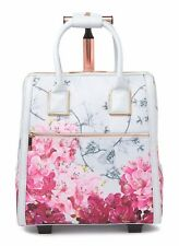 456d84c75cea New TED BAKER Clarra Babylon Floral Two Wheel Travel Carry On Suitcase Bag  Grey