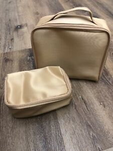 LANCOME Bag Makeup/Toiletry/Travel Pouch GOLD NEW!