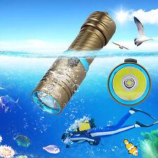 6000LM XM-L2 LED Underwater 120m Scuba Diving Flashlight Fishing Torch Light
