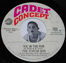 Garage Psych 45~THE STATUS QUO~Ice In The Sun/ When My Mind Is~Cadet Concept