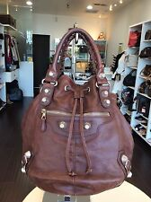 Balenciaga Brown Bonbon Purse Bag Tote With Strap Shop N Pick Up At LA Store