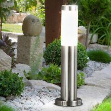 LED Außen Lampe Edelstahl Stand Strahler Garten Hof Grundstück Steh Lampe silber