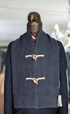 NWT $325 BOGLIOLI Scarf Blue Pure Wool