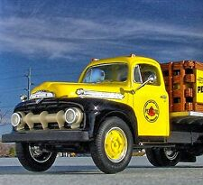 RARE - PENNZOIL Bulk Delivery Truck - 1951 Ford F6 Flatbed - First Gear