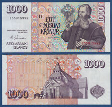 ISLAND / ICELAND  1000 Kronur L.2001 (2015)  UNC  P. 59 New