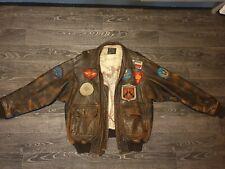 Original 1986 Avirex Mens leather pilot jacket, as seen in the Top Gun movie.