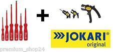 Elektriker Set 7in1 Wiha Schraubendrehersatz + Jokari Abisolierzange SUPER 4Plus