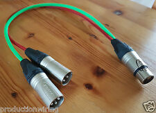 Stereo Mic 5 Pin XLR Female to 2x 3 Pin XLR Male Broadcast Balanced Cable