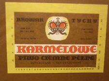 OLD POLISH BEER LABEL, BROWAR TYCHY POLAND, KARMELOWE