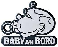 BABY AN BORD Relief Emblem Auto 3D Schild 8 cm selbstklebend HR Art. 4895