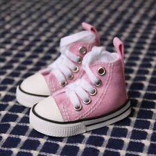 """Pink Canvas Shoes Sneaker For 1/4 17"""" BJD MSD AOD AS DOLL G&D"""