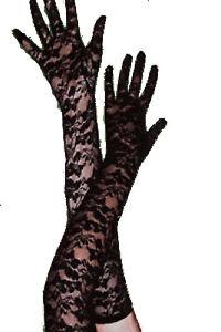 Sexy Dessous Spitzenhandschuhe schwarz Spitze Handschuhe Gothic NEU