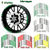 """MOTORCYCLE RIM """"17 STRIPES WHEEL DECALS TAPE STICKERS FOR  KAWASAKI VERSYS"""