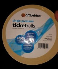 Premium Single Ticket Roll, Yellow, 2000 count (215001112)