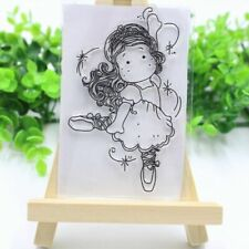 SALE**CLEAR STAMPS*LITTLE GIRL DANCING*CHRISTMAS*Birthday*Cards*Topper