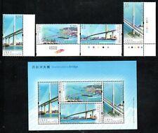 Hongkong 1549/52 und Block 206 ** Brücke - Schiffe (1679)