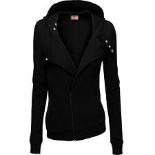 Eskaay Womens Zip Up Long Sleeve Hoodie Sweatshirt Jumper Coat Jacket Top Shirt