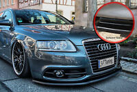 Spoilerschwert Frontspoiler ABS Audi A6 4F S-Line Facelift ABE schwarz glänzend