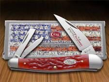 CASE XX Christmas Dark Red Bone Seahorse Whittler Stainless 25505 Pocket Knife
