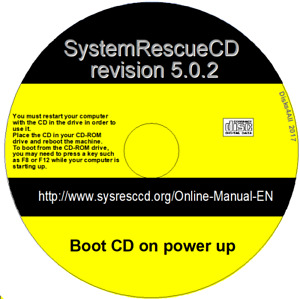 System Rescue CD 5.0.2 WINDOWS 7 XP VISTA REPAIR RECOVERY PARTITION TOOLS