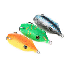 Soft Mouse Mice Ocean River Fishing Lures Baits Top Water Tackle Hooks 3 Pcs