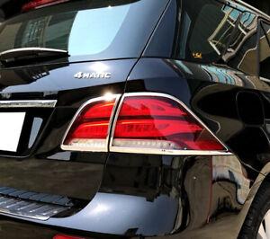Chrome Taillights Trim Bezel Rim Cover For Mercedes Benz GLE-Class W166 15-19