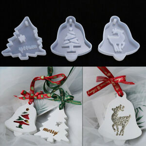 Christmas Tree Hanging Tag Silicone Jewelry Mold Resin Epoxy Mould Casting Craft