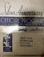 1937 Indy 500 Program Wilbur Shaw Won Original Indycar