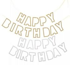 Party :  Happy Birthday Letter Banner Party Decor 1 pc