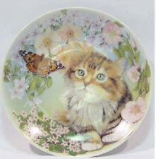 Perser katze mit schmetterling Porzellan teller Katzenmotiv figur cat