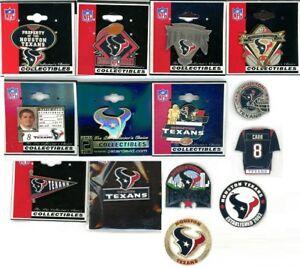 Texans Vintage Pin Choice 13 Pins Some new on card Houston NFL David Carr PDI