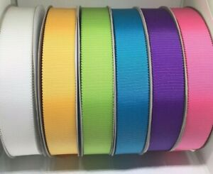 Quality Petersham Ribbon, width 25mm in 2m, 3m or 5m lengths - 9 great colours