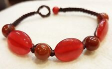 Man And Women Jewelry Handmade Red Bracelets Stone Brown Beads For