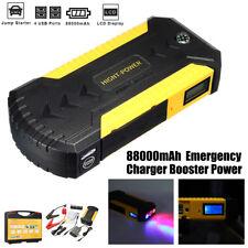 88000mAh 600AMP 4 USB Car Jump Starter Charger Booster Power Bank Battery Kit