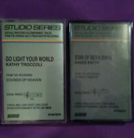 "Lot of 2 STUDIO SERIES Accompaniment Cassettes Sandi Patty ""Star of Bethlehem"""